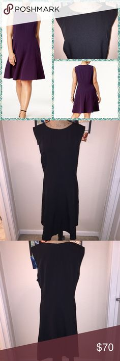 ➕ Sleeveless Fit & Flare Black Dress NWT Anne Klein sleeveless dress. Flattering fit & flare silhouette in sleek solid black. This plus size dress let's you mix and match jackets and accessories for an endless amount of looks. Fitted seams. Hidden zipper in back. Knee length. Scoop neck. Pockets. Fully lined. Polyester/elastane blend. Lining 100% polyester. Dry clean. Black. New with tags. Size 24W. Anne Klein Dresses