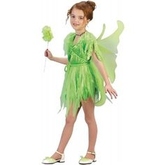 Amazon.com: Girls Green Neverland Fairy Costume: Clothing