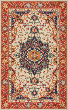 Rustic and fine! This is Rugs USA's Aragon CF01 Flourishing Forest in Desert Rug!