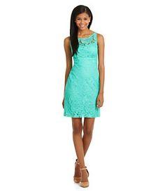 Darren Z Illusion Yoke Lace Dress | Dillard's Mobile