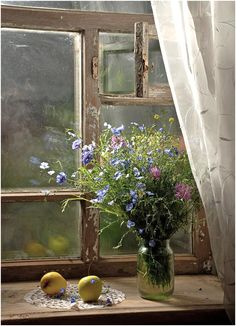 That first time you get to open your window in the #Spring, #Wildflowers #PeripetiHome