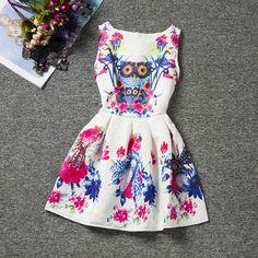Children Printing summer skirt 3-8 Years Old