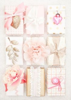 2x Pink Shabby Chic Hearts GiftWrap Wrapping Paper Birthday Mothers Day Wedding