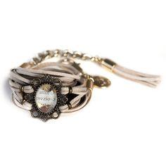 Prezioso Suede Bracelet - casetta di marzapane bijoux