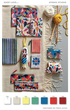 TEXTILES - cloth items like tapestries, clothing, purses, etc. Do It Yourself Mode, Mexican Pattern, Diy And Crafts, Arts And Crafts, Surface Pattern Design, Textile Art, Fiber Art, Print Patterns, Needlework