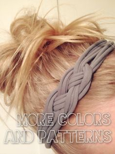 DIY: Sailor's Knot T-Shirt Headband by Love, fashion on SheSaidBeauty