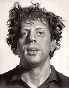 """phil,1969 #chuckclose acrylic on canvas, 108 x 84"""", © Chuck Close, courtesy Pace Gallery / Photo by: Ellen Page Wilson, courtesy Pace Gallery"""