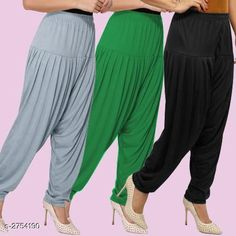 Ethnic Bottomwear - Patiala Pants Fabulous Viscose Women's Patiala Pants Combo Fabric: Viscose Waist Size : XL - Up To 24 in To Up To 32 in XXL - Up To 26 in To Up To 34 in Length: Up To 40 in Type: Stitched Description: It Has 3 Pieces Of Women's Patiala Pants Pattern: Solid Country of Origin: India Sizes Available: XL, XXL   Catalog Rating: ★4.1 (838)  Catalog Name: Kamal Fabulous Viscose Women's Patiala Pants Combo Vol 1 CatalogID_373404 C74-SC1018 Code: 974-2754190-4221