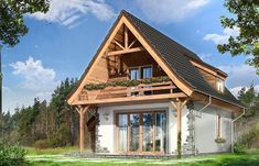 Best Small House Designs, Home Fashion, Tiny House, Shed, How To Plan, House Styles, Daffy Duck, Projects, Log Cabins