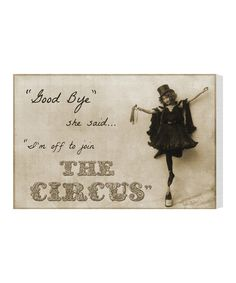 Some days... :: 'Join the Circus' Wall Art by Oliver Gal