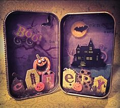 Halloween Altered Altoid Tin!                                                                                                                                                                                 More