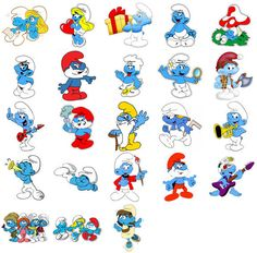 Smurfs Characters, Iron On T Shirt Transfer. Choose Image And Size & Garden Classic Cartoon Characters, Classic Cartoons, Girls Characters, Smurf House, Paw Patrol Characters, Smurfette, Cartoon Coloring Pages, T Shirt Transfers, Disney Cartoons