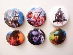 Clexa Lexa Badge Buttons 1.75 inch