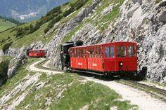 Mountain Railway - Schafberg in Salzburg countryside, Austria