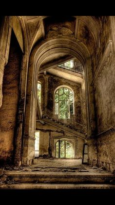 The lingering beauty of holy places abandoned..