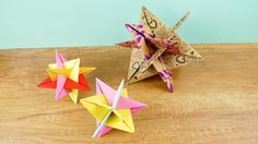 Origami mit optischer Täuschung   Cooler DIY Deko Stern   Modulares Orig...