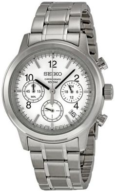 Seiko Men's SSB001 Silver Dial Watch Seiko. $91.54. Quartz movement. Durable hardlex crystal protects watch from scratches,. Stainless-Steel Case Watch. Water-resistant to 100 M (330 feet). Case diameter: 40 mm. Save 63% Off!