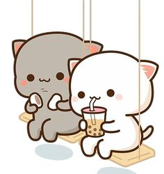 Cute Anime Cat, Anime Kitten, Cute Cat Gif, Cute Bear Drawings, Cute Animal Drawings Kawaii, Cute Cartoon Drawings, Cute Cartoon Images, Cute Love Cartoons, Cute Cartoon Wallpapers