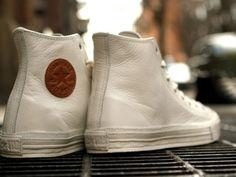 All Star Premium White Leather Hi