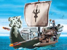 #transformer dreamworks dragons playmobil playset - drago's ship
