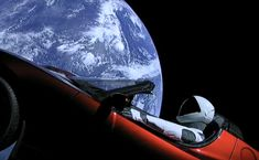 Tesla Roadster with 'Starman' completes first orbit around the sun - In February SpaceX launched its first Falcon Heavy rocket, with Elon Musk's own Tesla Roadster and a dummy equipped with a spacesuit in the driver's seat named 'Starman'.