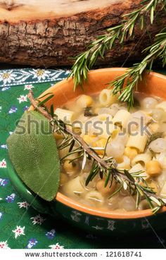 chickpea soup with aromatic herbs by Donatella Tandelli, via ShutterStock