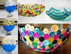 creative button bowl #diy #crafts