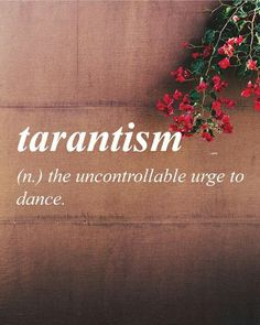 #Word #tarantism #uncontrollable #urge #dance #BeBlessed