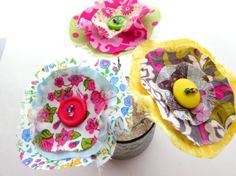 Fabric Flowers Mother's Day Gift Spring Flowers Fake by Itsewbella, $13.00