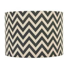 Picture of Navy and Tan Chevron Lamp Shade 7X10X8-in
