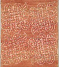 紐結び文布(部分)〈ひもむすびもんぬの〉<br> 芹沢銈介 紬、型染 昭和時代〔日本〕 1946年<br> 69.0 x 191.0 cm No.23639