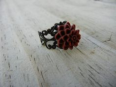 South Carolina Gamecocks Flower Ring by LaFemmeFanatic on Etsy, $7.00