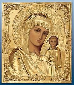 Religious Icon of Our Blessed Mother Religious Pictures, Religious Icons, Religious Art, Russian Icons, Russian Art, Immaculée Conception, Religion, Spiritual Images, Blessed Mother Mary