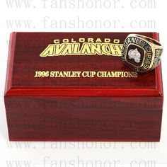 Custom NHL 1996 Colorado Avalanche Stanley Cup Championship Ring - Hockey