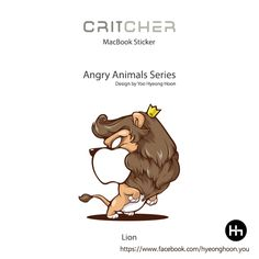 macbook sticker Lion angry animals