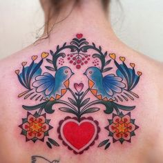 PA German folk art tattoo