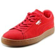 Puma Suede Classic Emboss Men  Round Toe Suede Red Sneakers