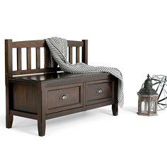 Entryway Storage Bench Furniture Organizer with Drawers Solid Wooden Handcrafted #LuxuryFurniture #Cottage