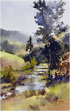 Watercolor Landscape by Alvaro Castagnet
