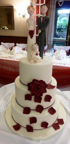 Elegant wedding cake, Carlos Lischetti inspired toppers??