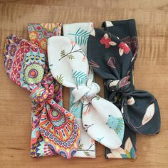 Boho hippie topknot bundle for baby girls made from organic cotton knit fabric! Comes in 5 different sizes.