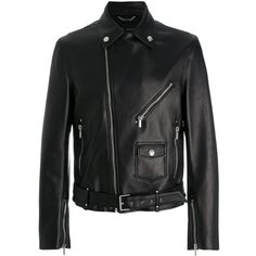 Versace leather biker jacket (3,980 CAD) ❤ liked on Polyvore featuring men's fashion, men's clothing, men's outerwear, men's jackets, black, mens leather moto jacket, mens zip jacket, mens leather jackets, mens leather motorcycle jacket and versace mens jacket