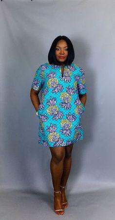 Robe imprimé africain avec poches vêtements vêtements pour