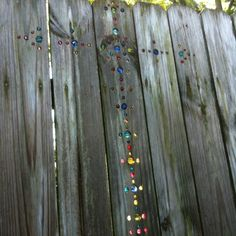 had seen the random marble placement of marbles in a fence and ...