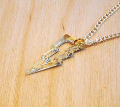 Tiny Lightning Bolt Charm Necklace £14