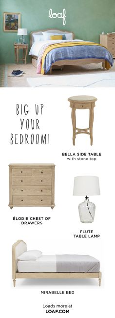 Come on and check out our bonza beds, scrummy side tables and everything in between! White Bed Sheets, White Bedding, French Bed, Comfy Sofa, Side Tables, Bungalow, Sofas, Beds, Bedroom