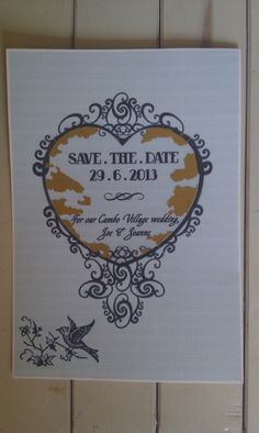 Our DIY scratch card save the dates, inspired by a post on Rock 'n' Roll bride