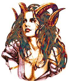 Aries woman...