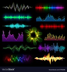 Digital music equalizer audio waves set vector image on VectorStock Green Background Video, Green Screen Video Backgrounds, Blur Background In Photoshop, Blur Photo Background, Background Images For Editing, Hipster Background, Dark Background Wallpaper, Studio Background Images, Banner Background Images