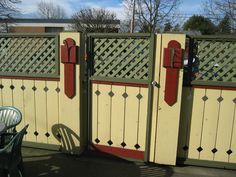 Cool wood fence design  Superior Fence & Construction 503-760-7725